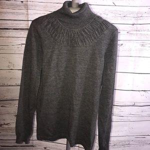 Sweater, Small Grey Wool Sweater.